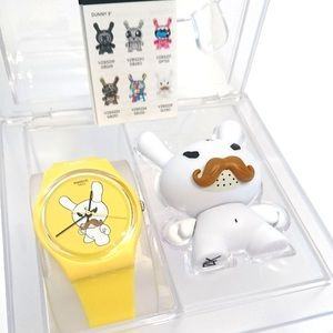 Kid Robot for Swatch Frank Kozik Watch + Dunny set
